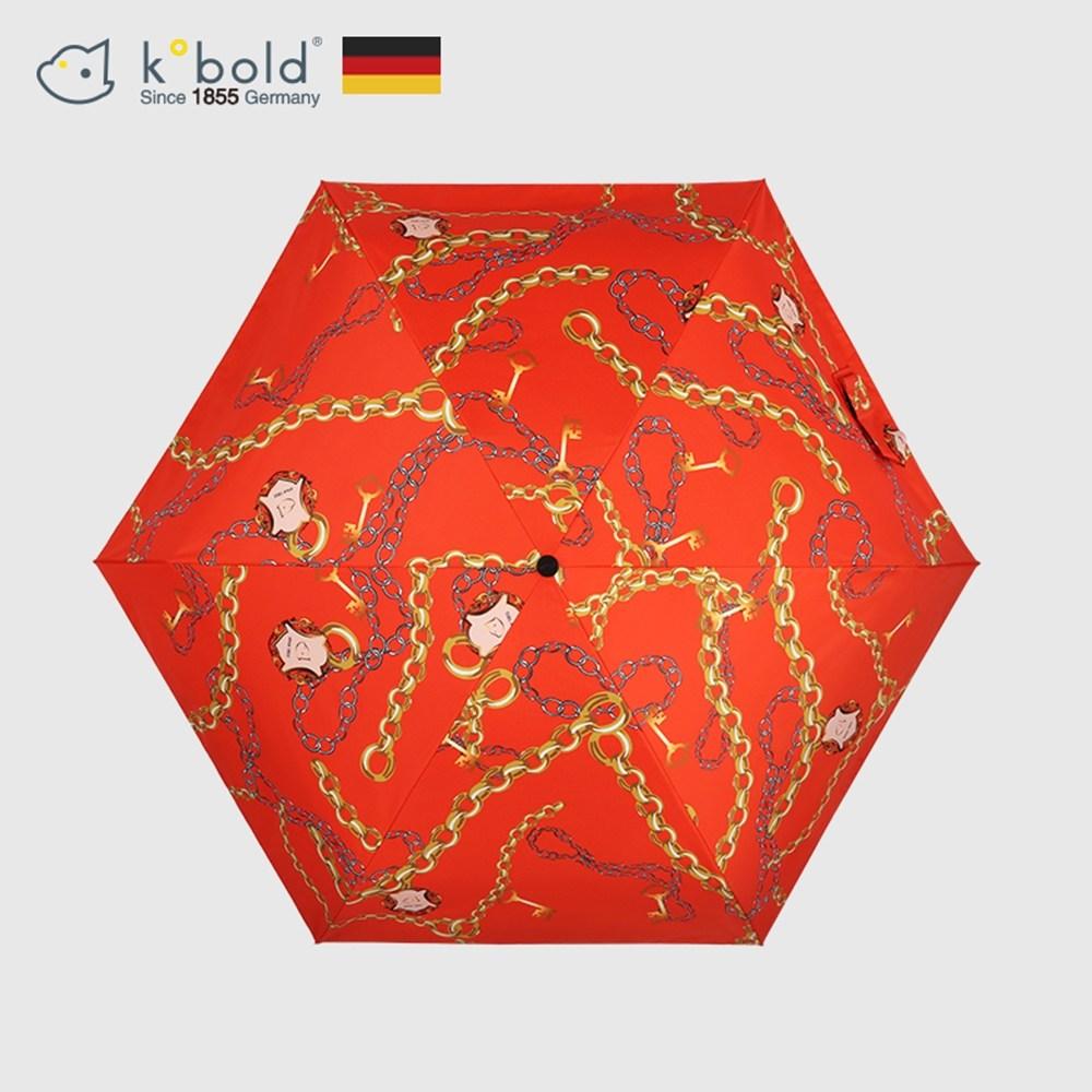 【德國kobold酷波德】抗UV蘑菇頭系列-6K超輕巧遮陽防曬 五折傘-艾瑪橙