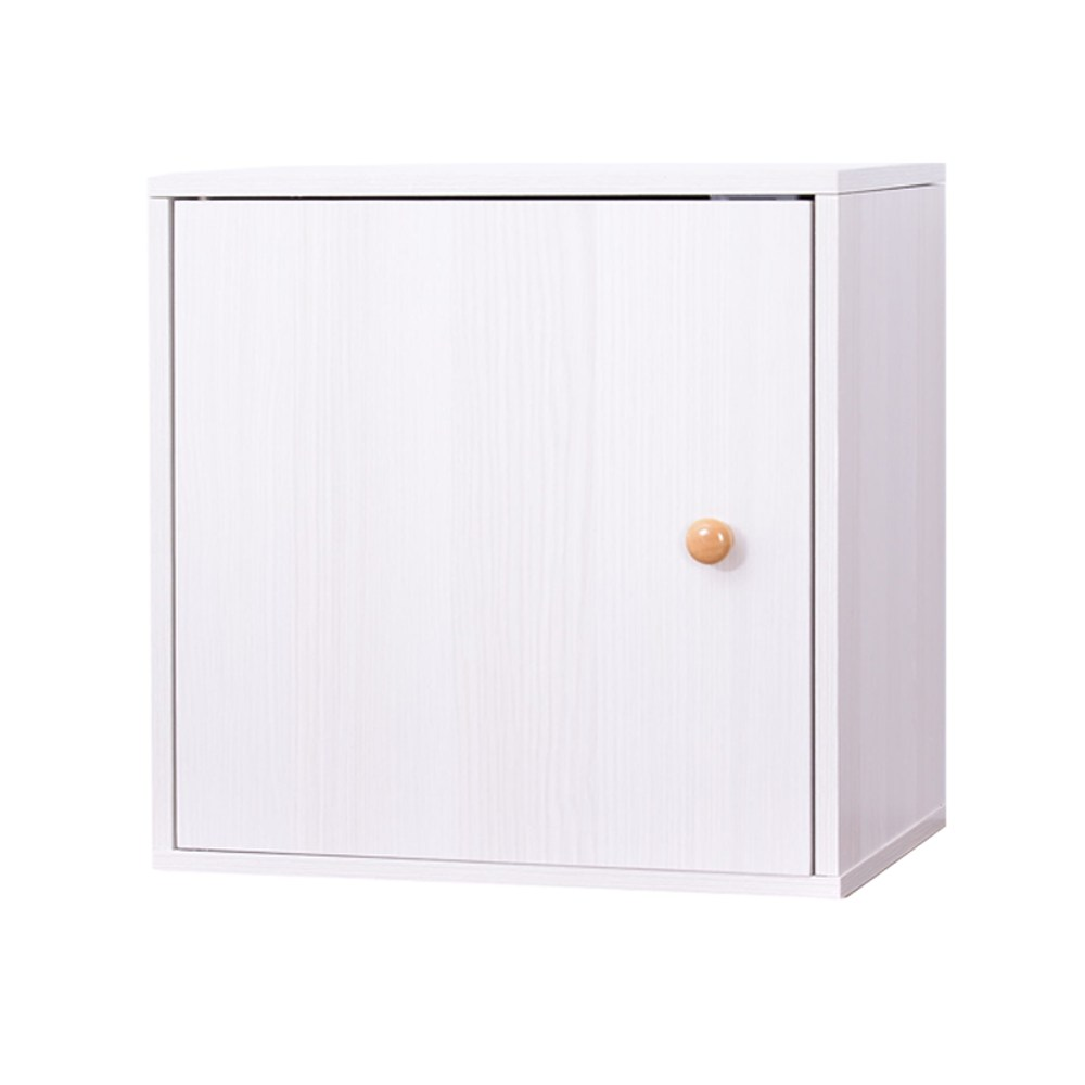 自由組合式收納置物櫃-方形箱(白色)