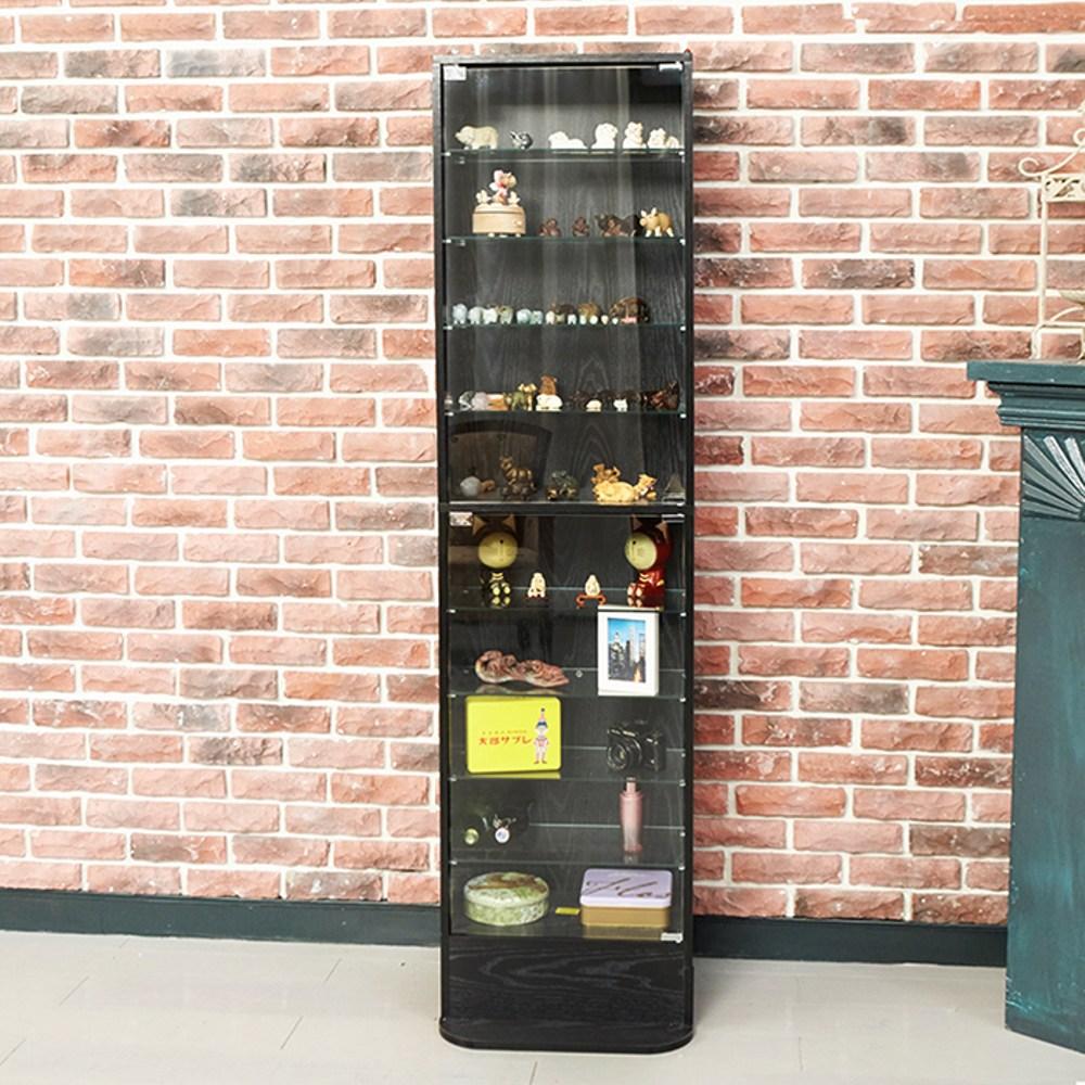 【澄境】180CM模型收納玻璃展示櫃(黑色)