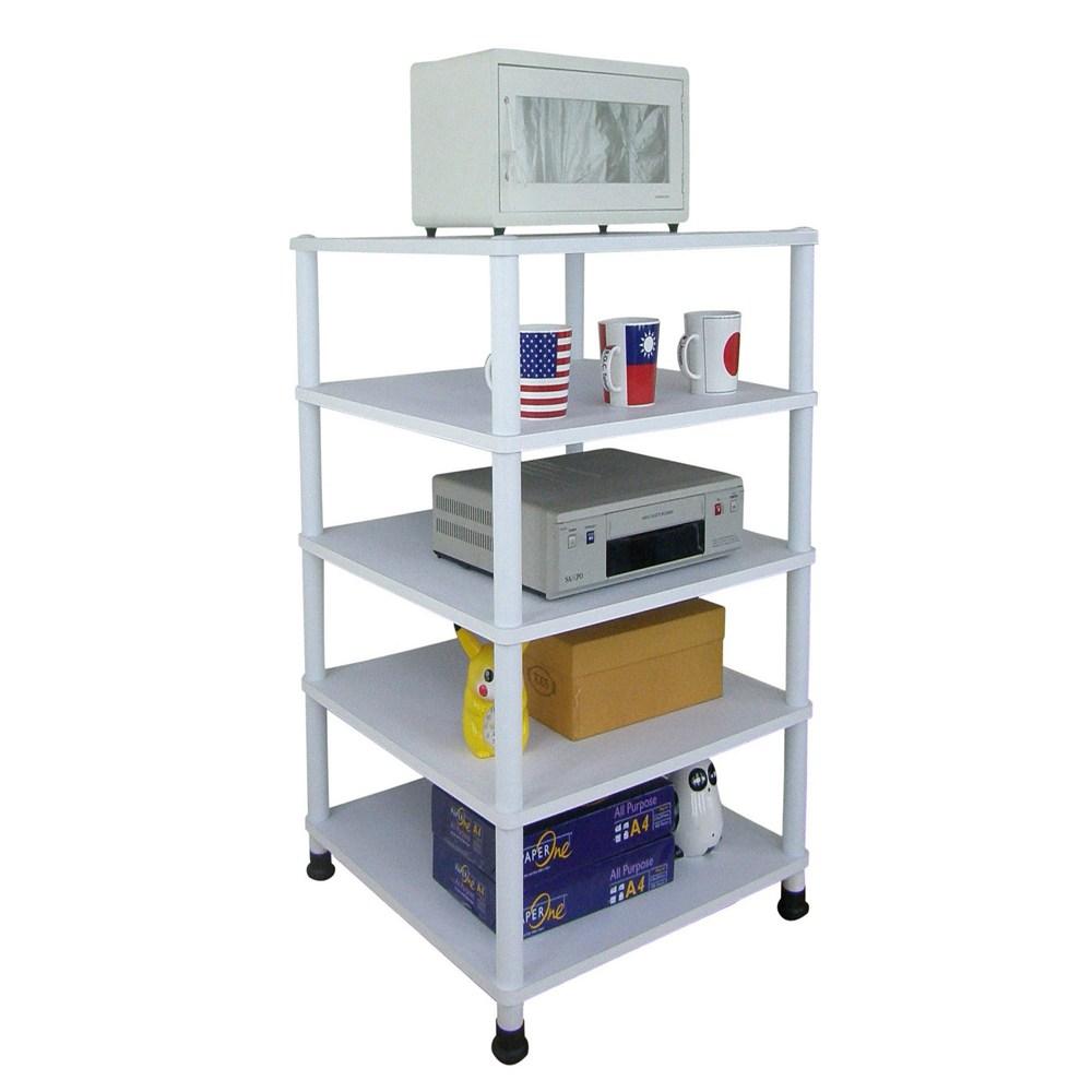 【頂堅】五層收納架/置物架/電器架-40x40公分-三色可選素雅白色