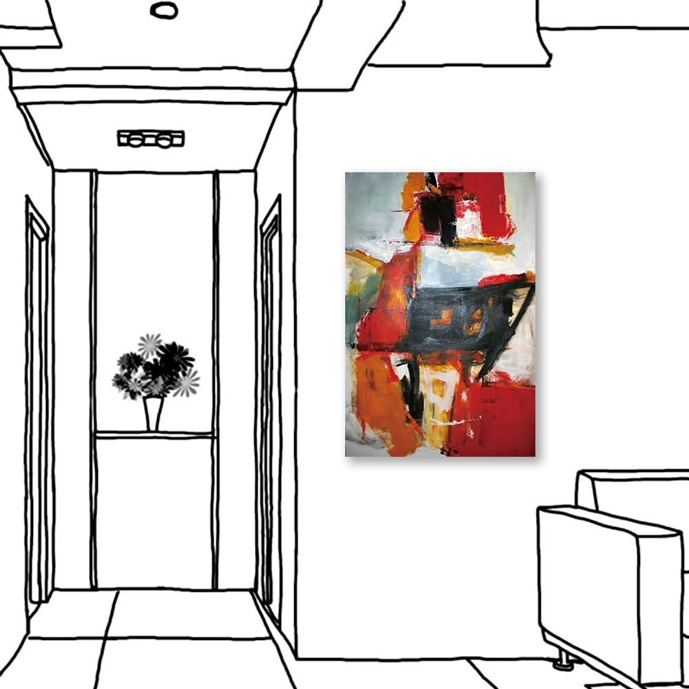 24mama掛畫  單聯式 藝術裝飾 抽象油畫風無框畫 40X60cm