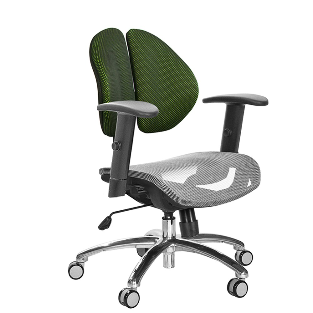 GXG短背網座雙背椅(鋁合金腳/SO升降扶手)TW-2997 LU5#訂購備註顏色
