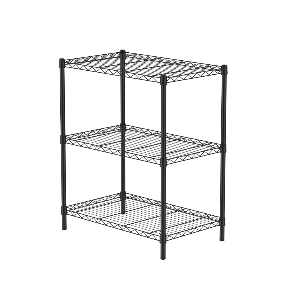 (組)特力屋烤漆三層架 -黑 75x46x90CM