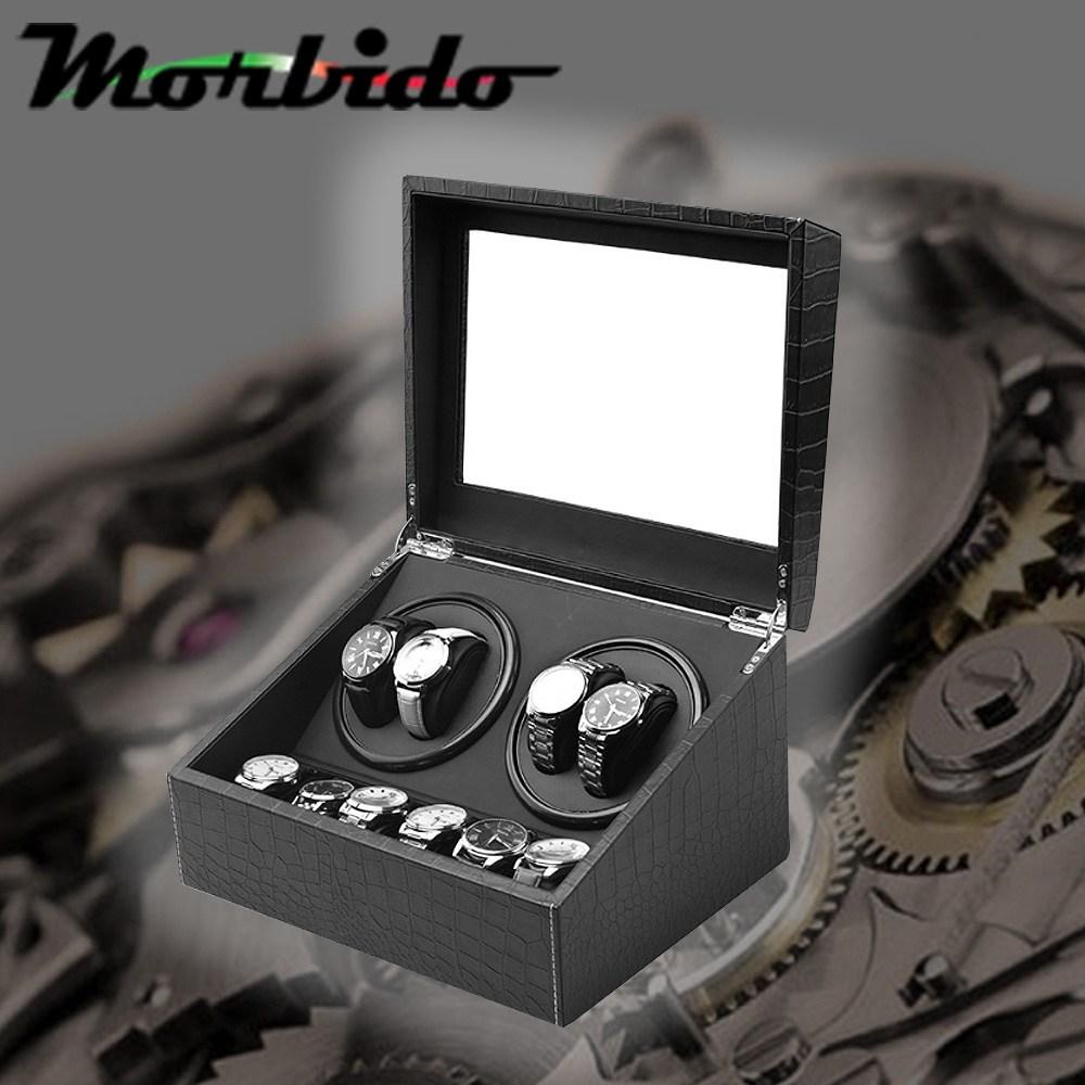 Morbido蒙彼多搖錶器/自動機械錶收藏盒/上鍊盒 鱷魚紋(4+6)