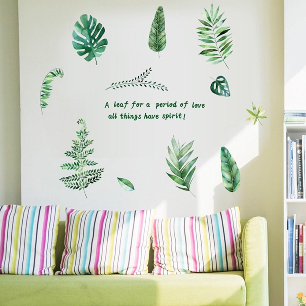 【Loviisa 清枝葉綠】無痕壁貼 壁紙