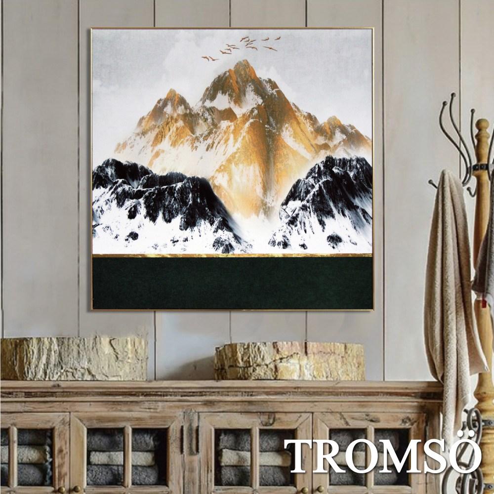 TROMSO北歐風尚板畫有框畫-金碧雄峰60X60CM
