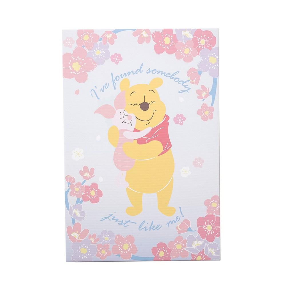 HOLA 迪士尼系列粉萌季無框畫-維尼小豬擁抱 40x60cm