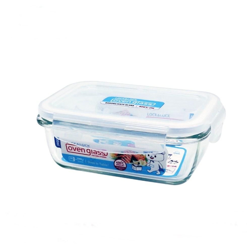 樂扣樂扣耐熱玻璃長方保鮮盒430ML限量版