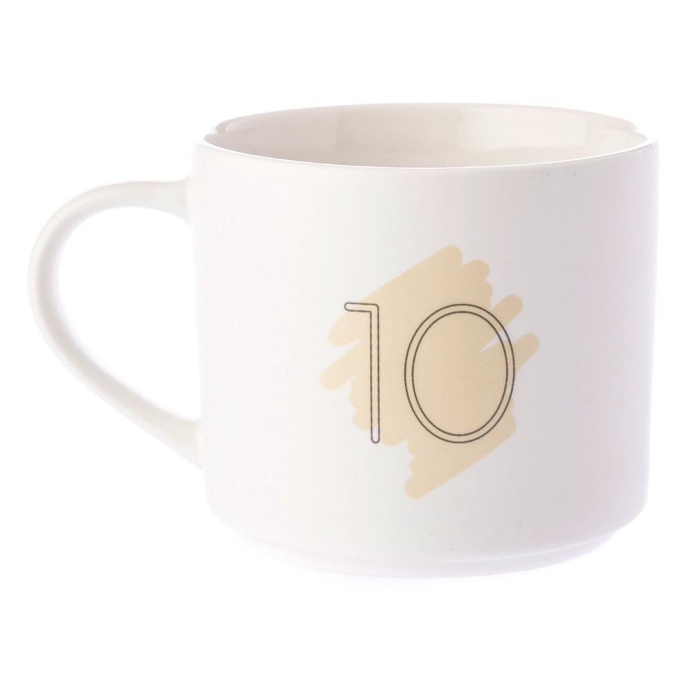 HOLA 數字馬克杯 10號 380ml 10th Tenth