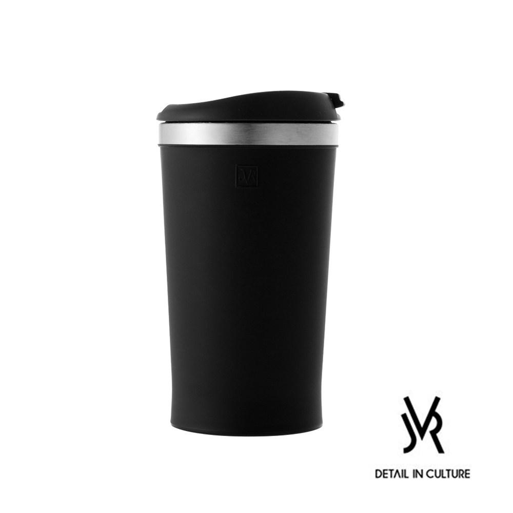 JVR 韓國原裝MINI POP不鏽鋼迷你翻蓋隨行杯280ml-共3色黑色