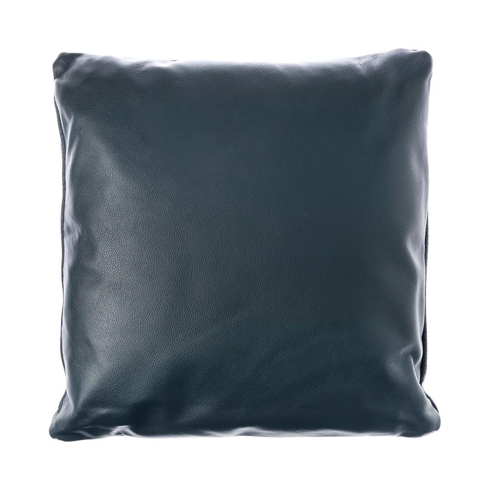KUKA全牛皮抱枕45x45cm 靛藍色