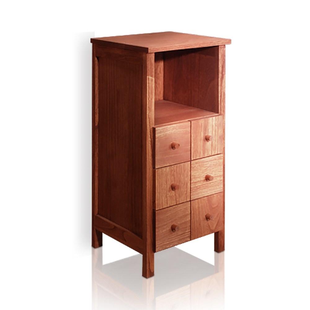 桐趣 木自慢4抽實木事務收納櫃
