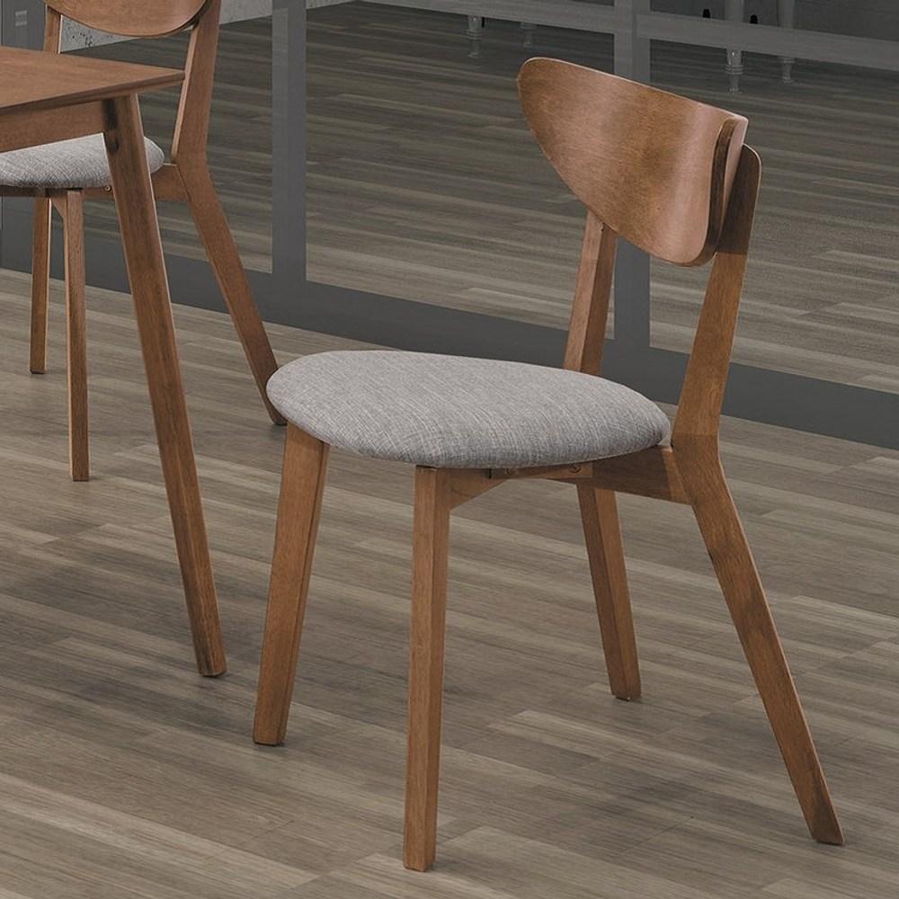 馬可淺胡桃灰布餐椅