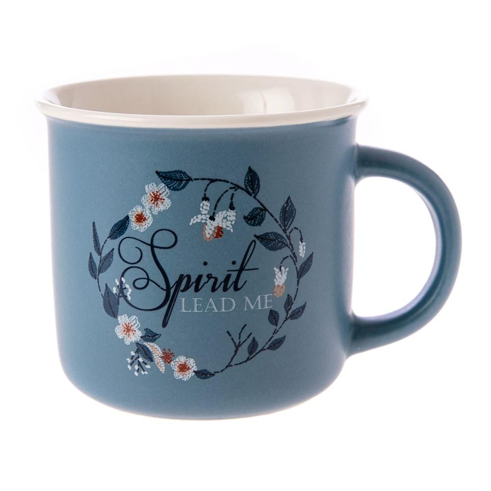 HOLA 莫藍花馬克杯 360ml 藍色款 可適用微波爐及洗碗機
