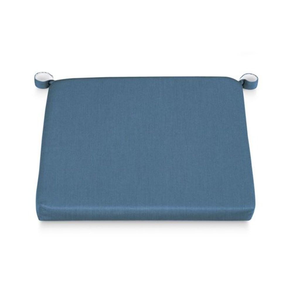Crate&Barrel Rocha 戶外餐椅墊 寶藍
