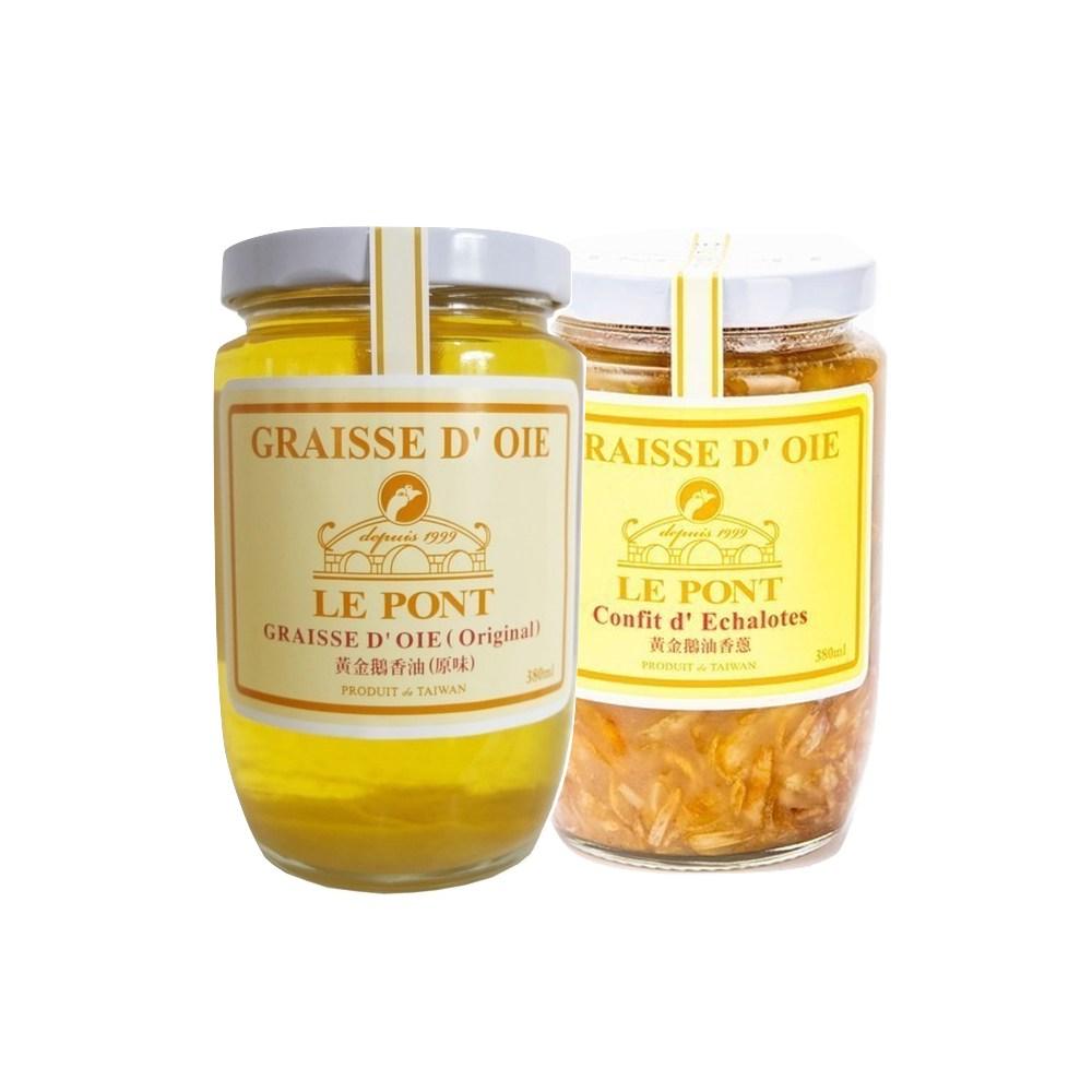 (組)樂朋LE PONT黃金鵝香油(原味)380ML(1入)+香蔥310g(1入
