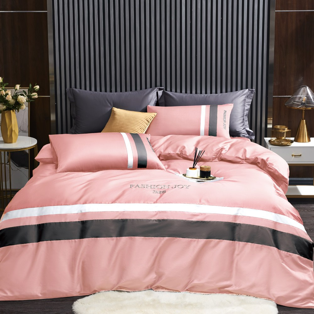 BEDDING-60支100%天絲七件式兩用被床罩-錦繡年華紫粉(加大