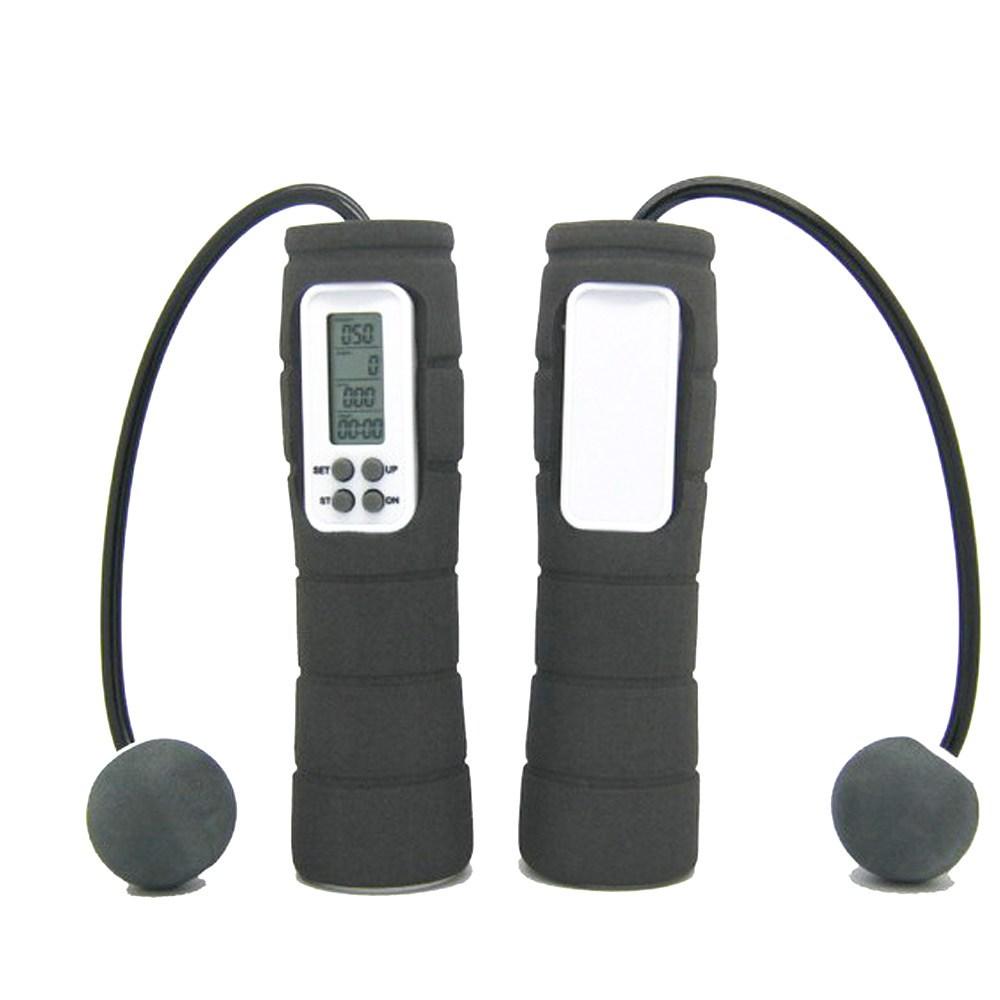 【PUSH!休閒運動用品】SWEDA無線跳繩黑色H01-6