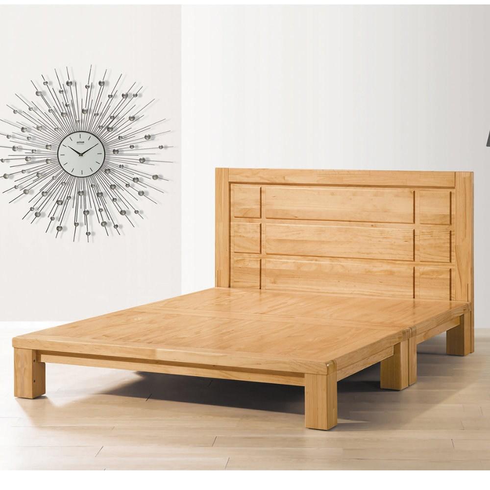 【MUNA 家居】維吉爾實木6尺雙人加大床台(雙人加大床)