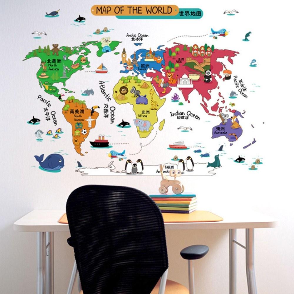 【Loviisa MAP OF THE WORLD】無痕壁貼 壁紙