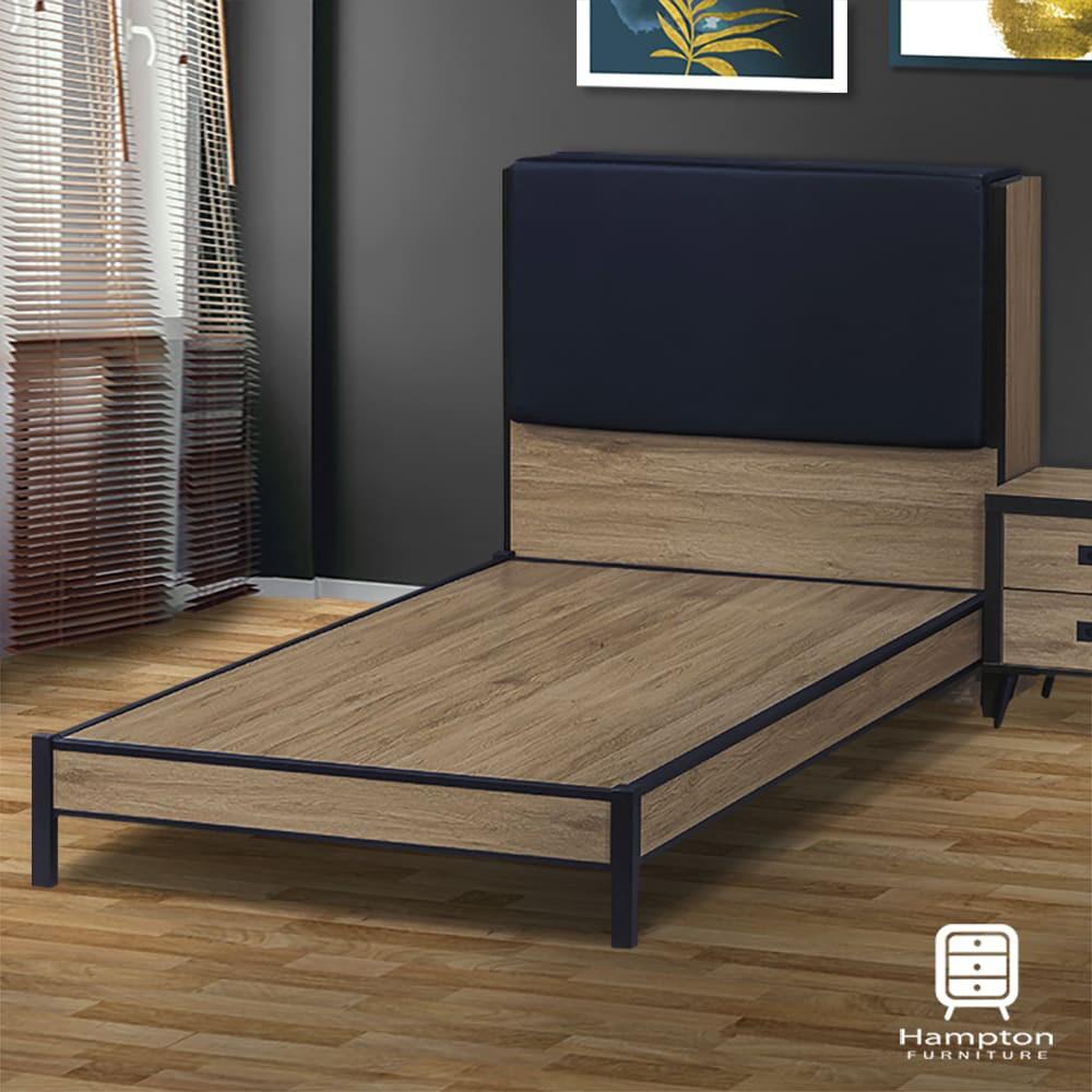 【Hampton 漢汀堡】埃米灰橡木乳膠皮3.5尺床組