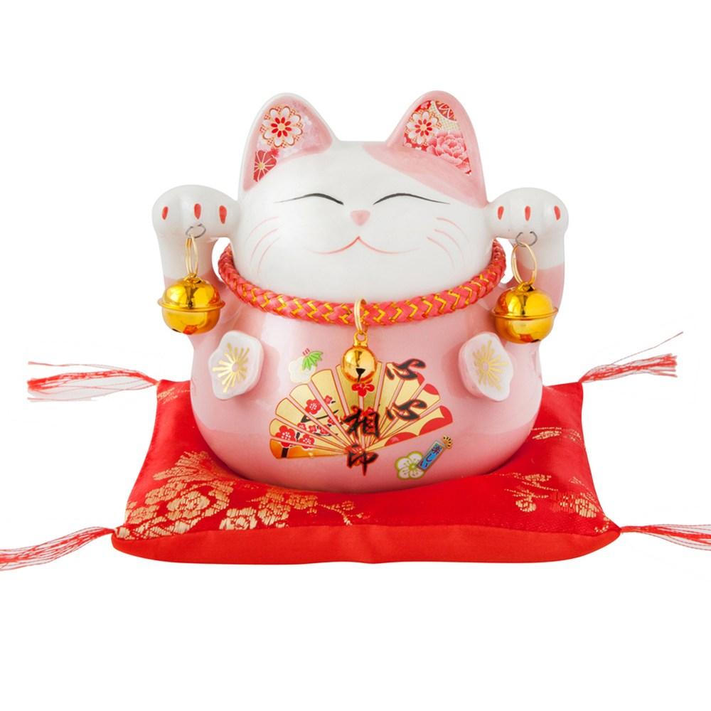 六福臨門 4.5吋 招財貓 粉色