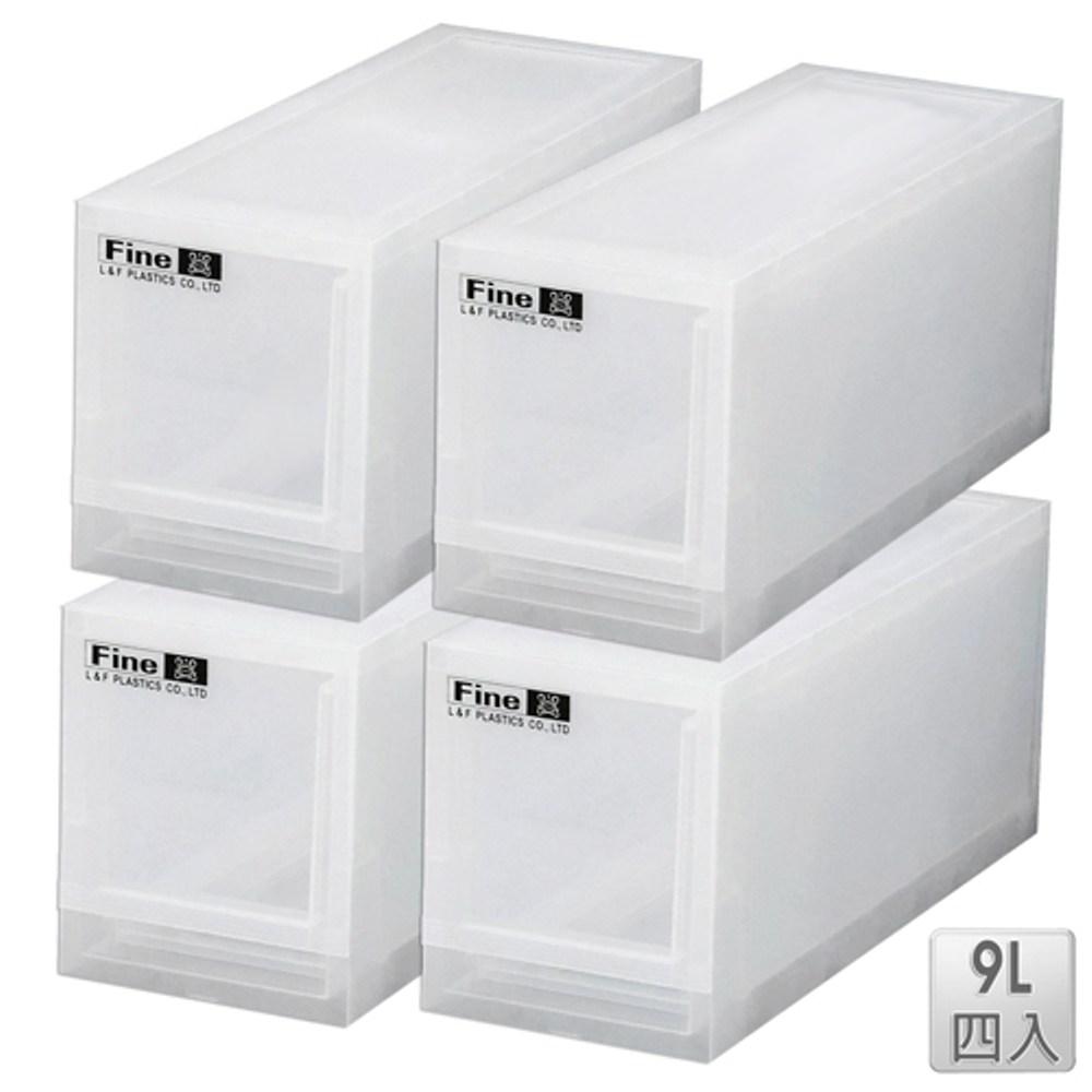 【收納屋】「無印美學」積木窄版 9L抽屜整理箱(四入)