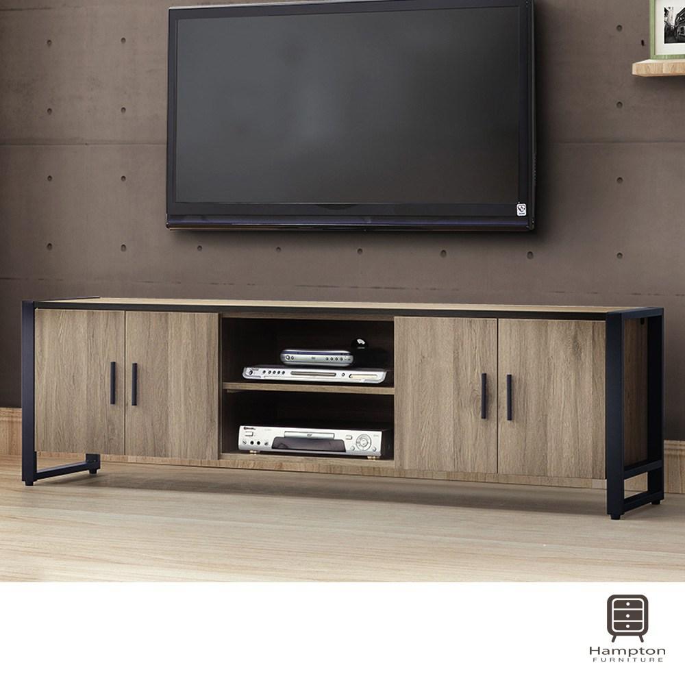 【Hampton 漢汀堡】佩敦灰橡6尺電視櫃