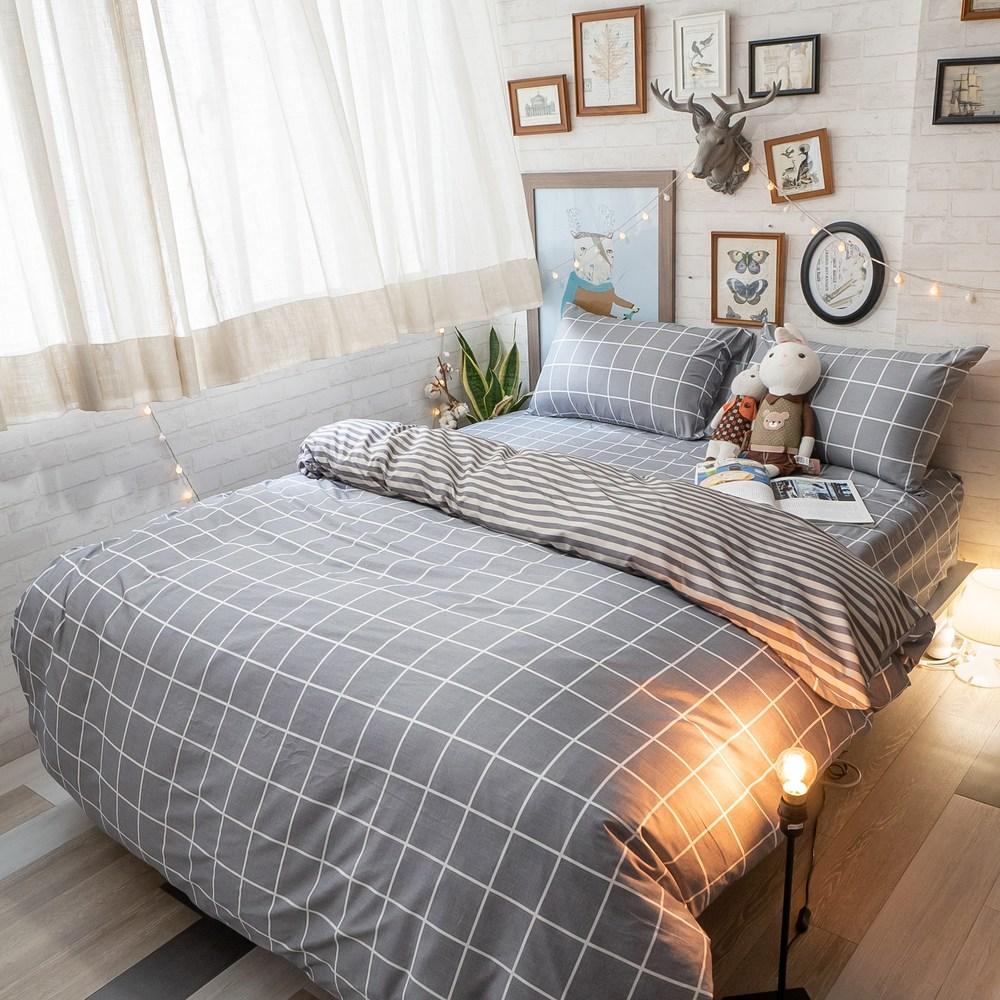 北歐風 四季磨毛布【Ouni歐妮】床包+被套 三件組/【單人】