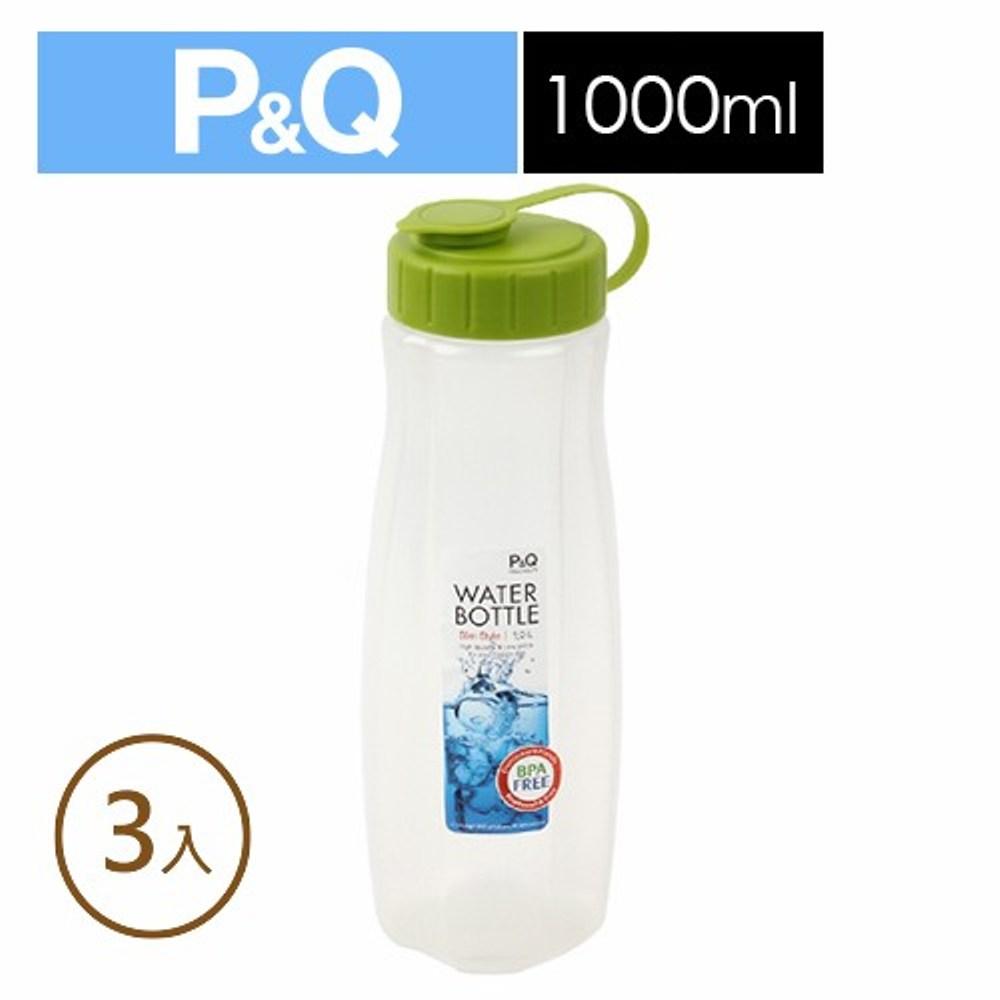 樂扣樂扣P&Q水壺1.0L/B2C12/綠(3入)