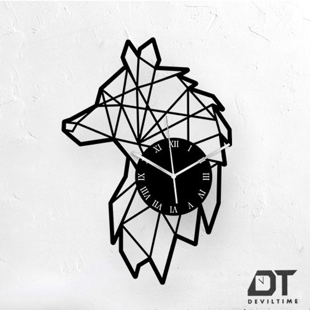 DT Time 幾何系列時鐘 幾何狼