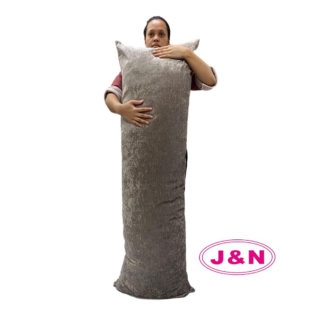 【J&N】艾爾絲絨巨無霸長抱枕50*150咖啡色(1入)咖啡色
