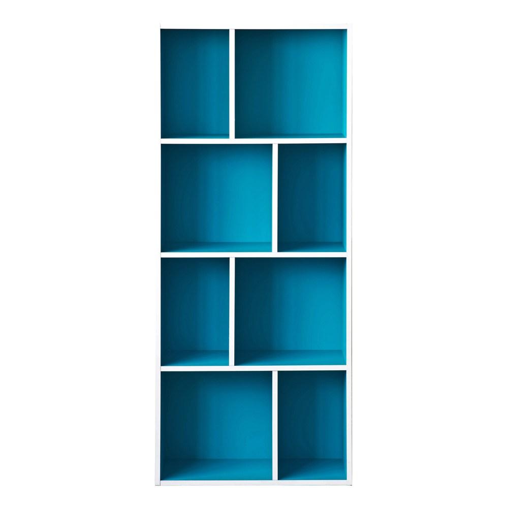 【TZUMii】創意四層八格櫃-土耳其藍