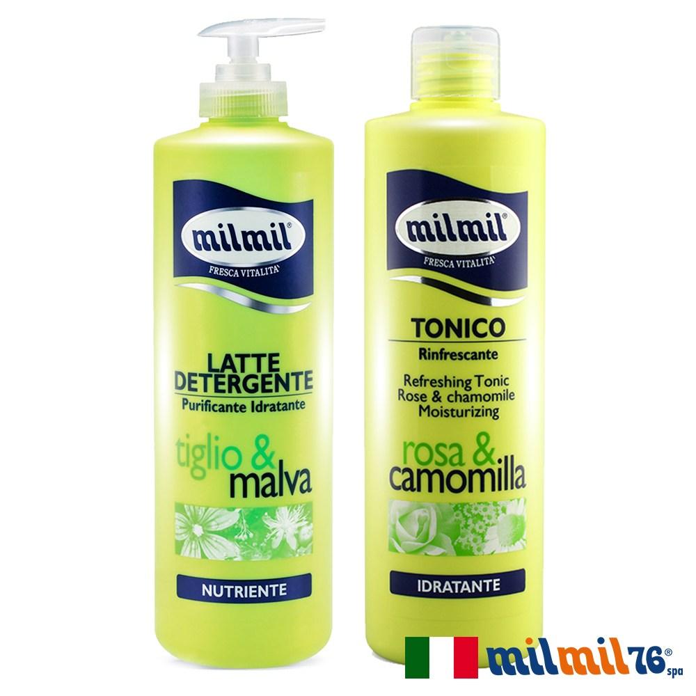 【義大利MILMIL】植萃水感溫和柔嫩清潔乳+舒活潤顏化妝水