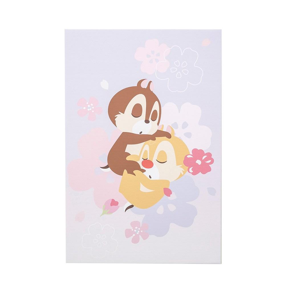 HOLA 迪士尼系列粉萌季無框畫-奇奇蒂蒂午睡 40x60cm