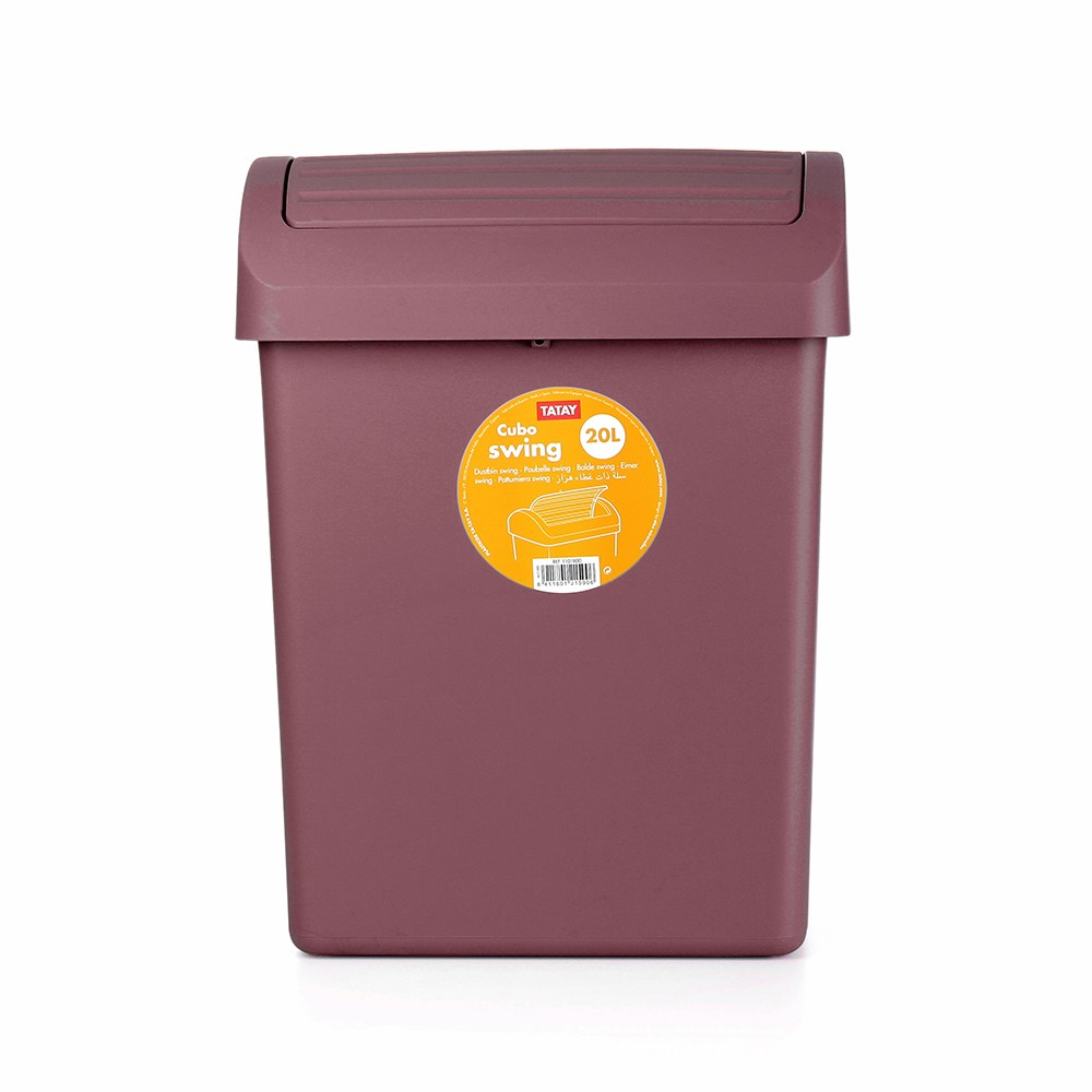 西班牙TATAY轉蓋垃圾桶20L-紫