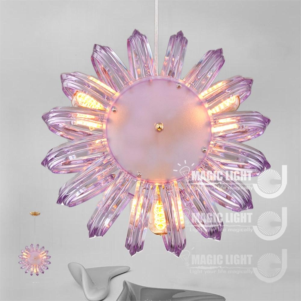 【光的魔法師 】鸚鵡螺吊燈 三燈 簡約現代(優雅紫)