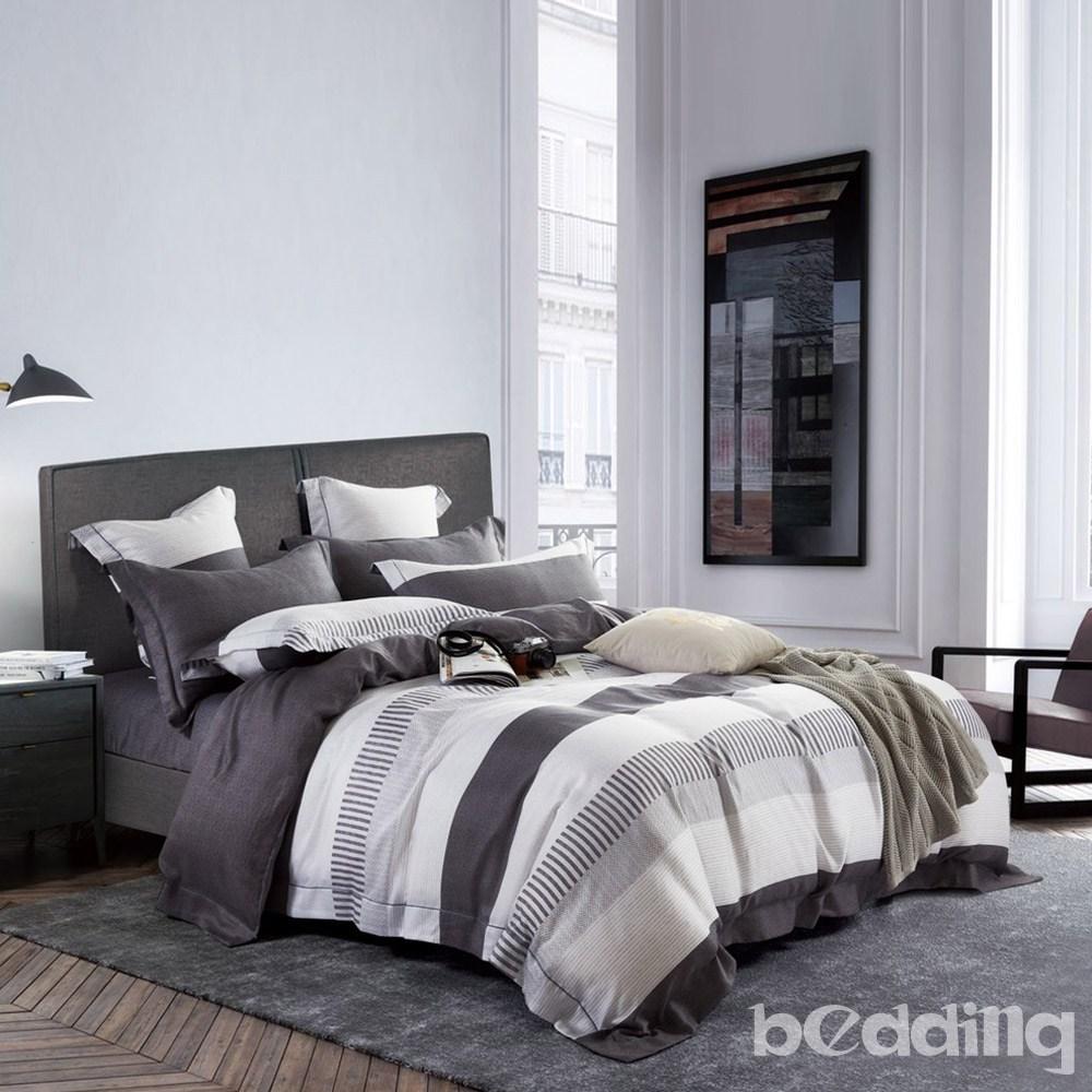 BEDDING-100%天絲三件式枕套床包組-辛夷(加大)