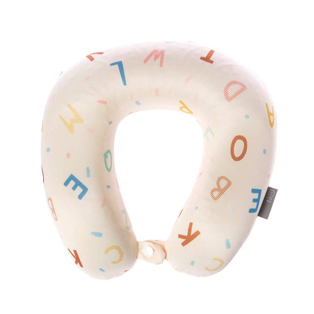 HOLA 玩轉字母涼感凝膠記憶頸枕32x28x9cm