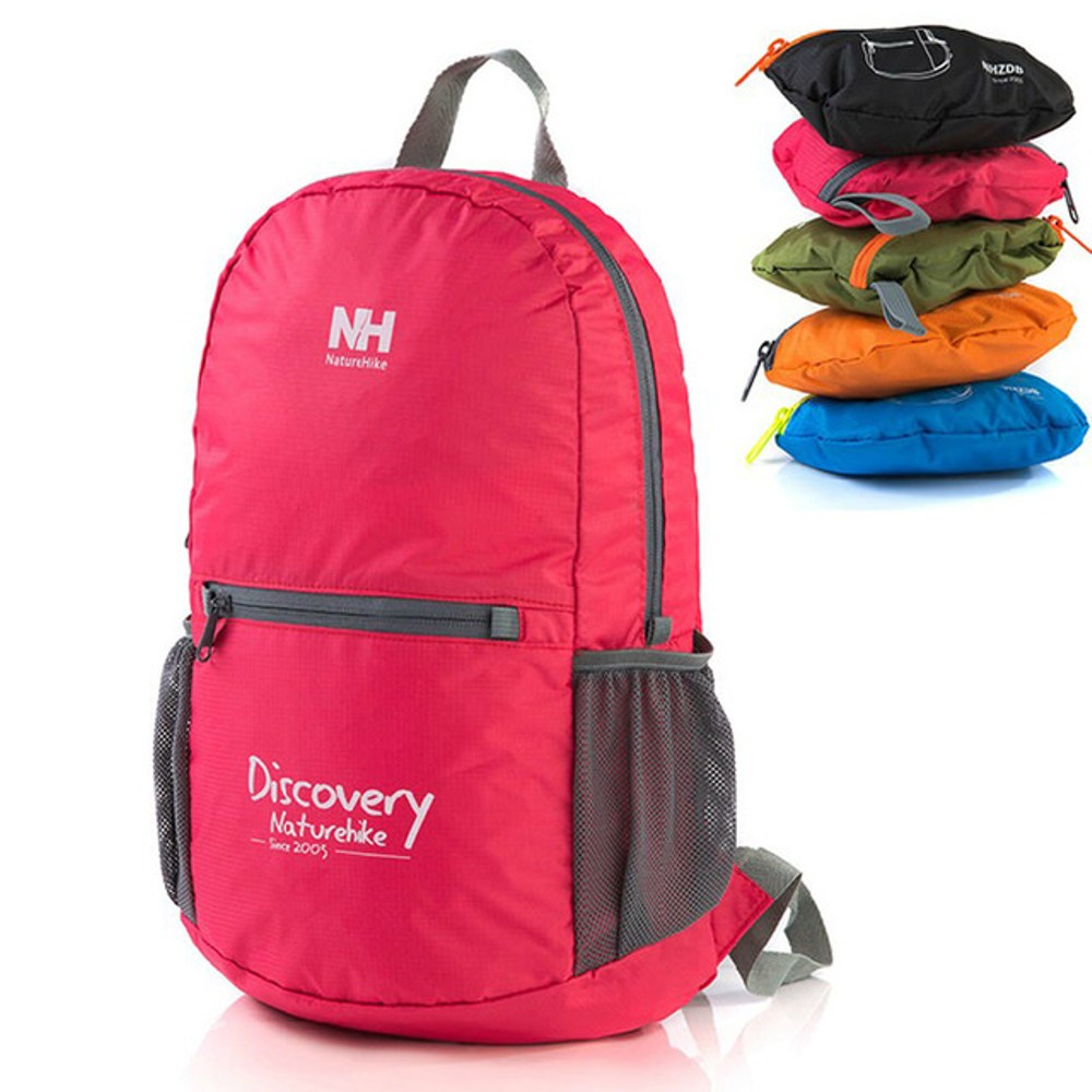 【PUSH!】折疊便攜式登山背包旅行包萬用旅行袋U29玫紅