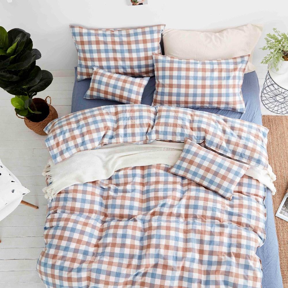 TRONlife好床生活|水洗純棉四件式兩用被床包組|霓彩星球雙人