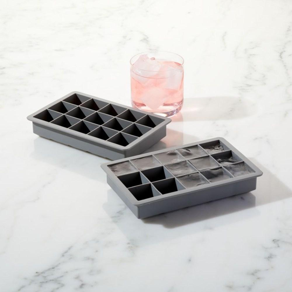Crate&Barrel Silicone 矽膠冰塊盒 2入 灰