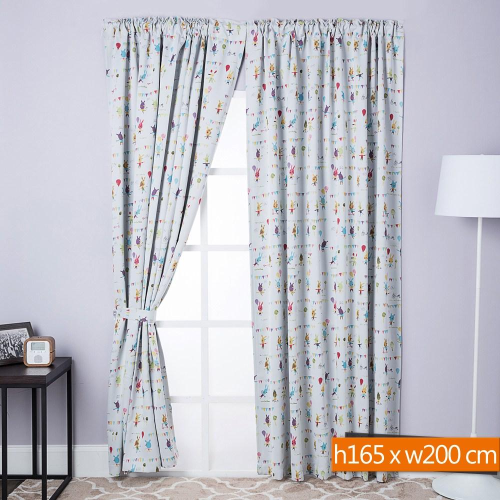 新歡樂派對防蹣抗菌遮光窗簾 寬200x高165cm