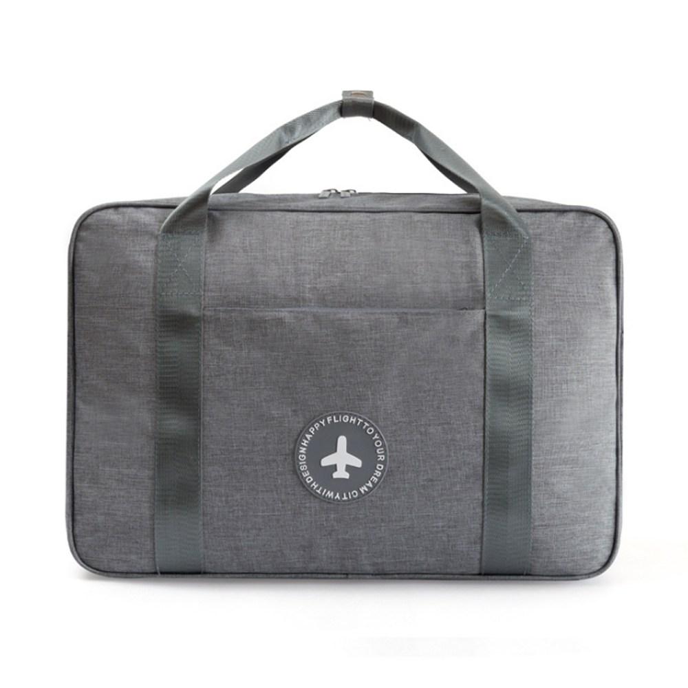 PUSH!旅遊用品拉杆箱上手提行李包便攜行李收納包灰色S53灰色