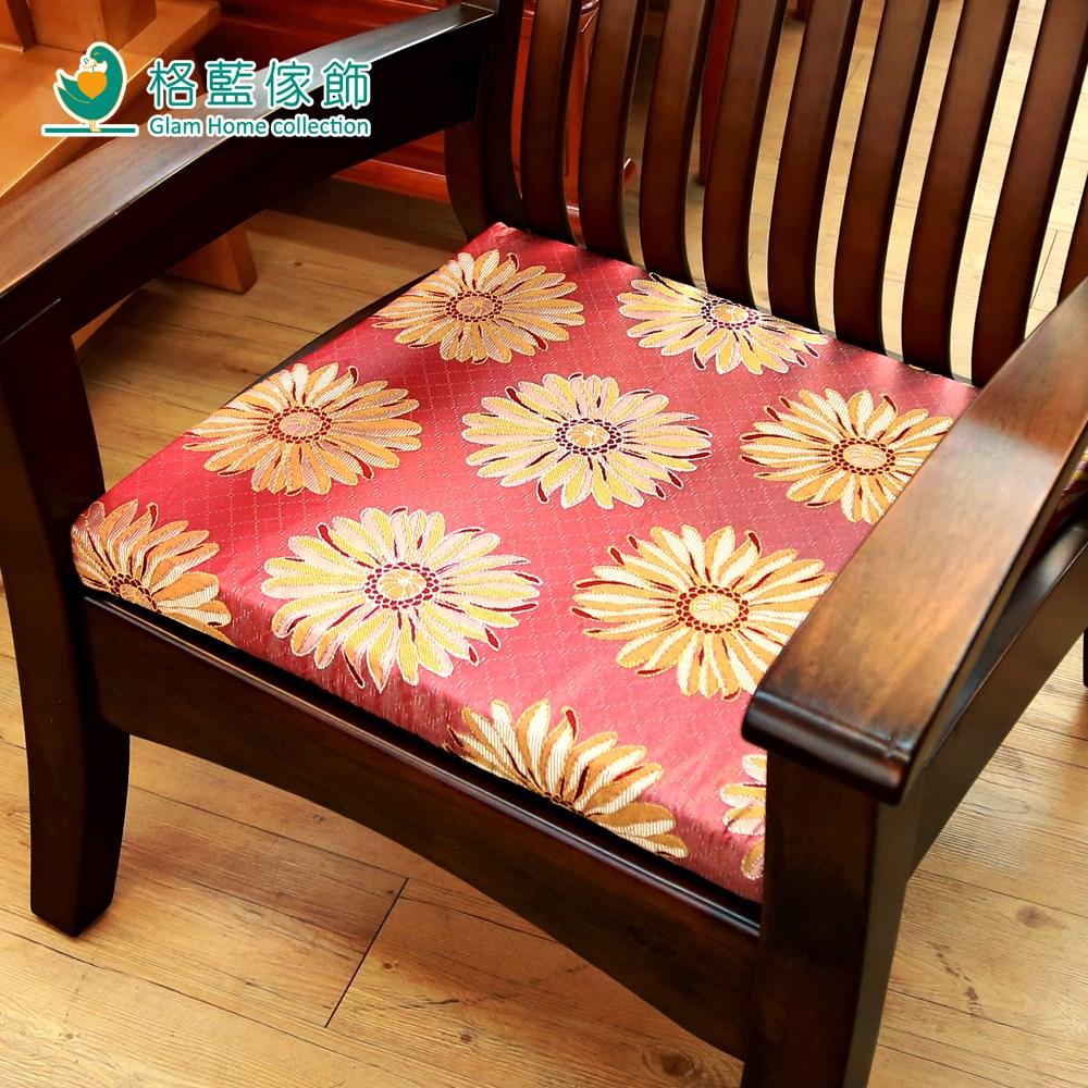 【格藍傢飾】花開富貴立體座墊-紅1入