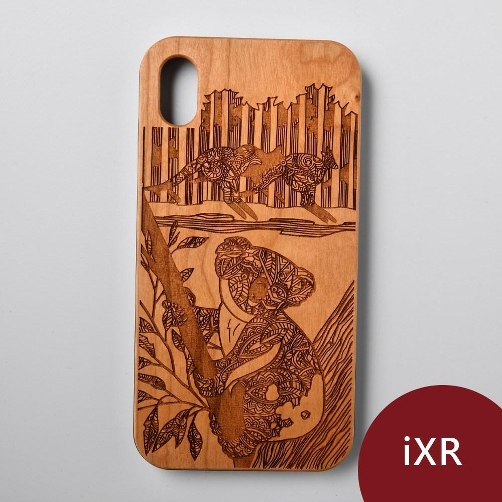 Woodu 木製手機殼 萌系無尾熊 iPhone XR適用