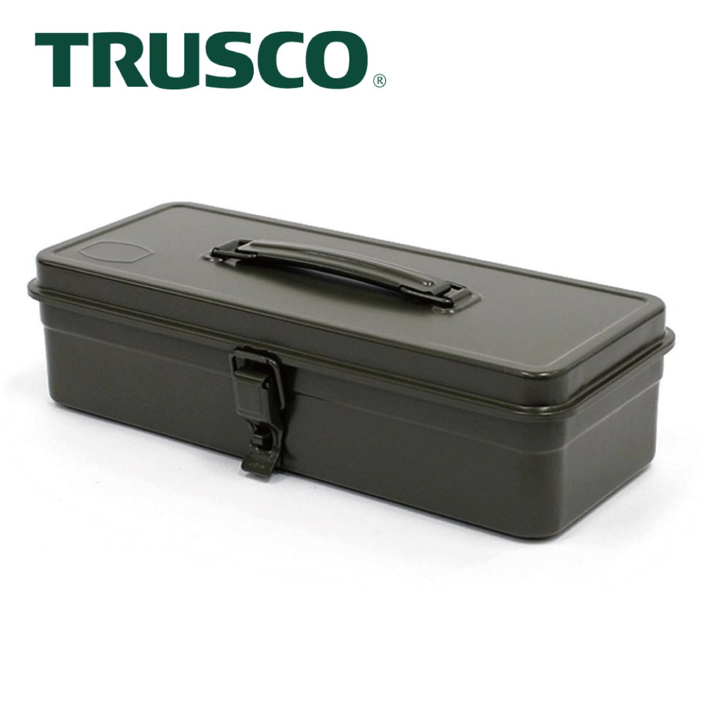 【Trusco】經典單層工具箱(中)-墨綠