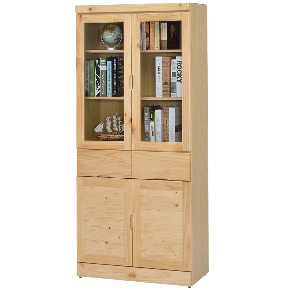Homelike 歐文松木中抽書櫃