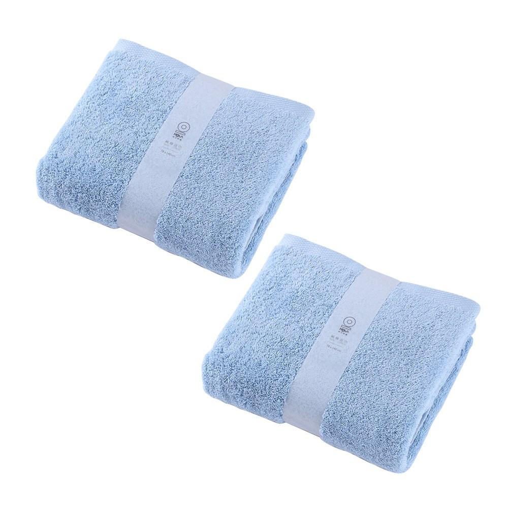 (組)土耳其純棉浴巾藍78x140cm x2