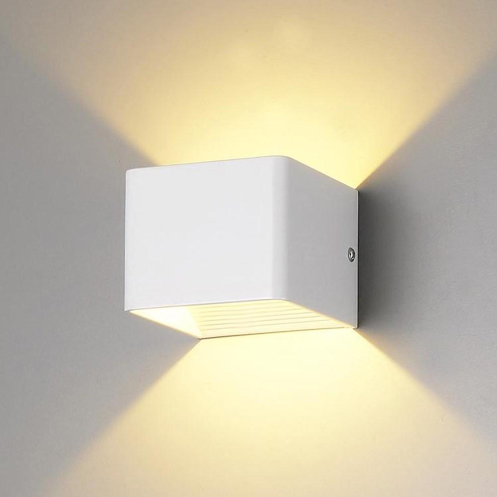 【PW居家燈飾】 LED上下照情境造型壁燈 白色